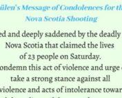 Fethullah Gulen Condolence letter for Nova Scotia Massive Attack