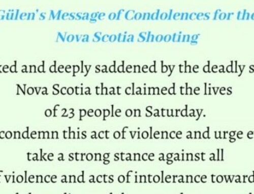 Fethullah Gülen's Message of Condolences for the Victims of Nova Scotia Shooting
