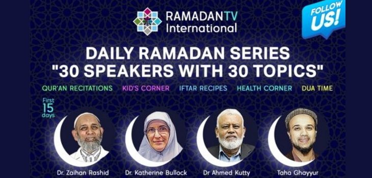 Ramadan TV guest speakers